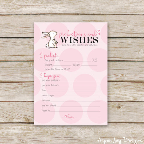 Pink Bunny Predictions & Wishes for Baby