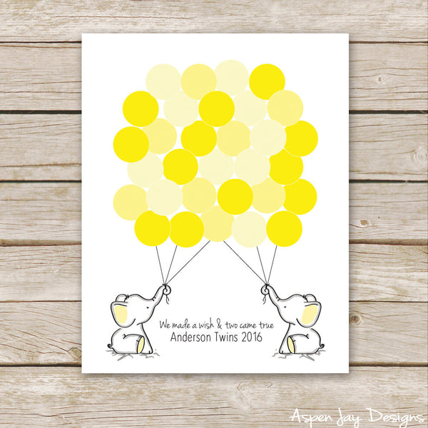 TWIN Yellow Elephant Guest Book