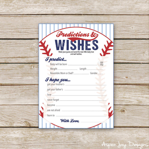 Baseball Predictions & Wishes for Baby