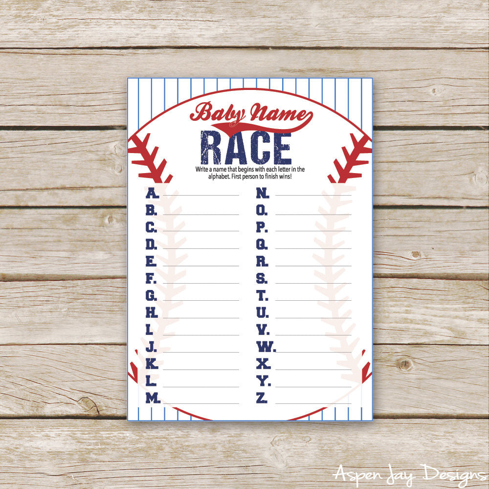 Baseball Baby Name Race
