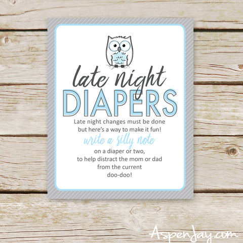 Blue Owl Late Night Diapers