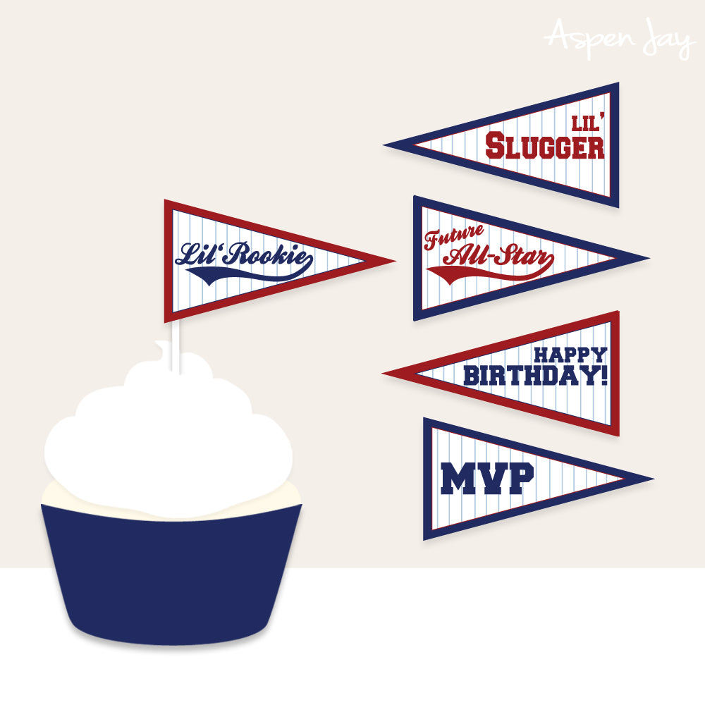 Baseball Birthday Mini Flags