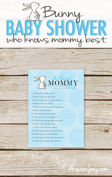 Blue Bunny Who Knows Mommy Best