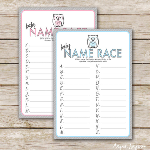 Owl Baby Name Race