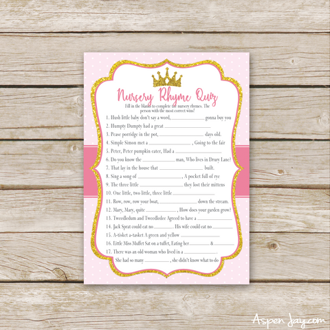 Pink Princess Nursery Rhymes