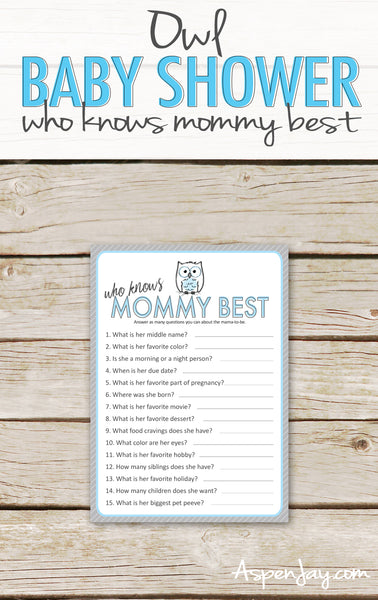 Blue Owl Who Knows Mommy Best
