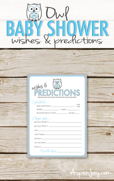 Blue Owl Predictions & Wishes for Baby