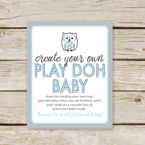 Blue Owl Play Doh Baby Sign