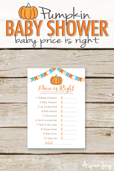 Pumpkin Baby Price is Right