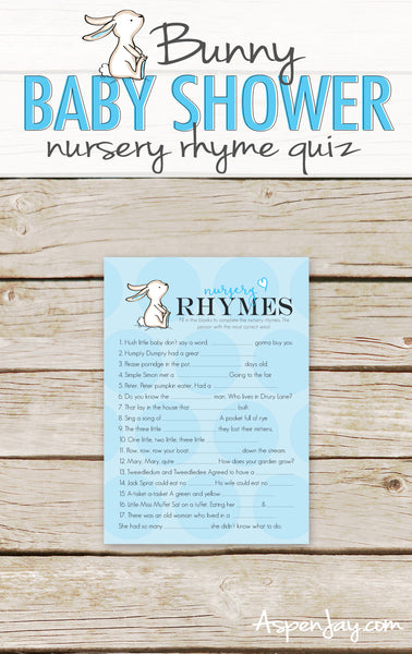 Blue Bunny Nursery Rhymes