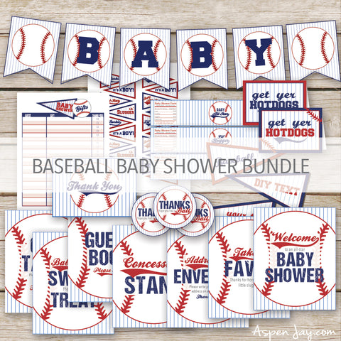 Baseball Baby Shower Package