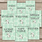 Green Bunny Baby Shower Signs