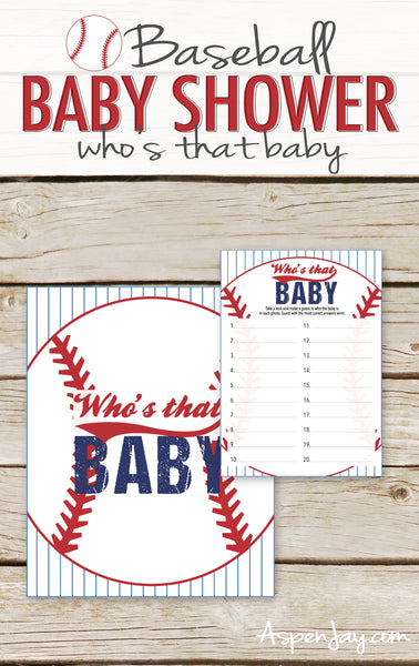 Baseball Guess Who's that Baby
