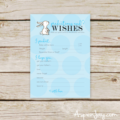 Blue Bunny Predictions & Wishes for Baby