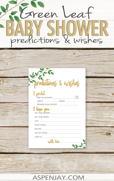 Green Leaf Predictions & Wishes for Baby