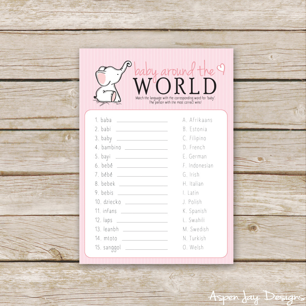 Pink Elephant Baby Around the World