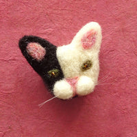Needle Felted Cat Brooch
