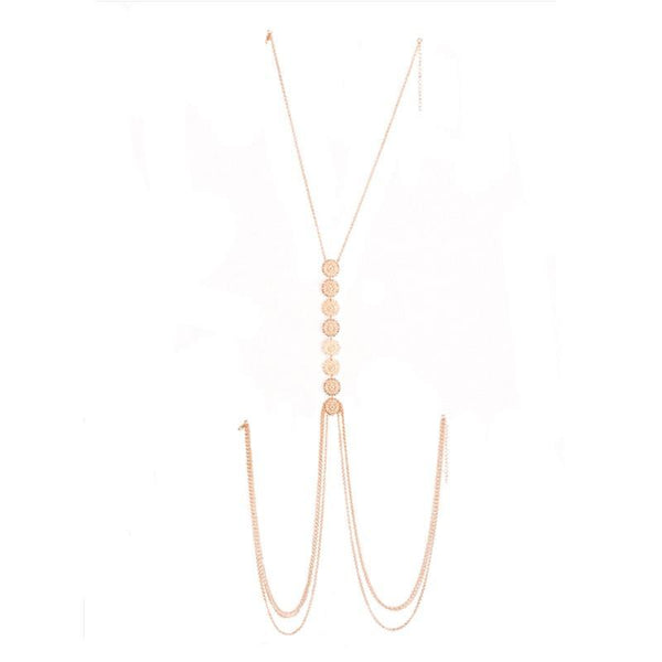 Ethnic Boho Statement Coin Body Chain