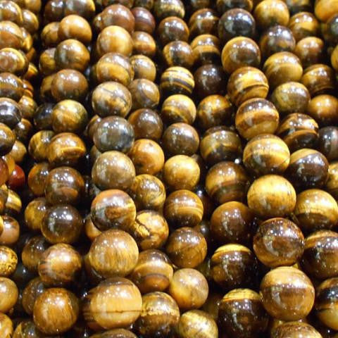 Tiger Eye Round Natural Stone Beads