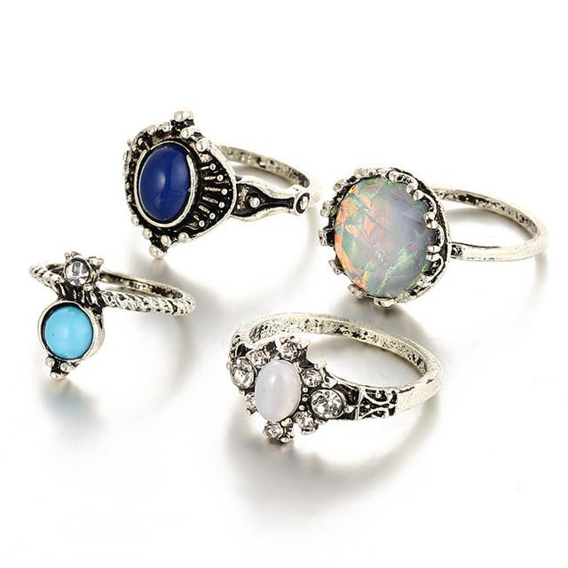 Stunning Statement Stones Ring Set