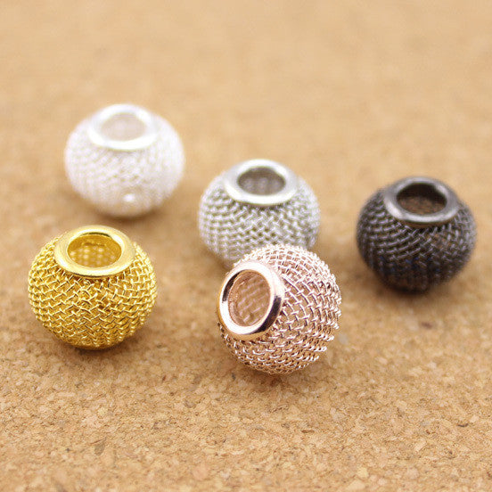 10 Pcs/Lot Mesh Spacer Beads