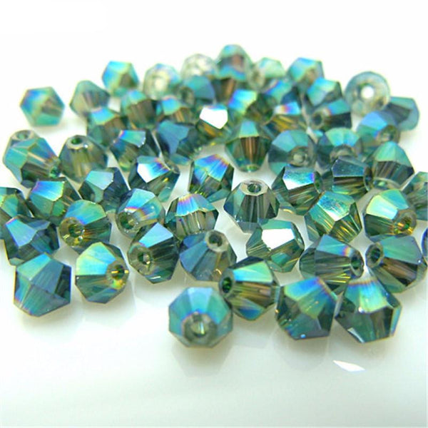 Island Green 100 Pcs/Lot Crystal Beads
