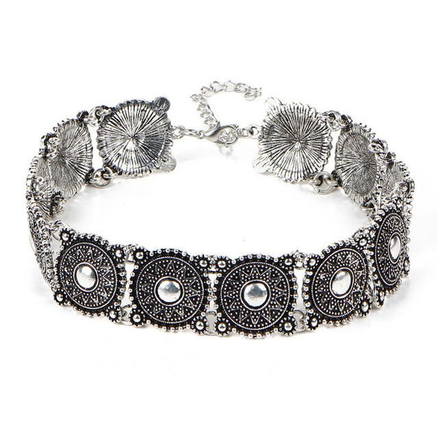 Mandala Collar-Style Choker Statement Necklace