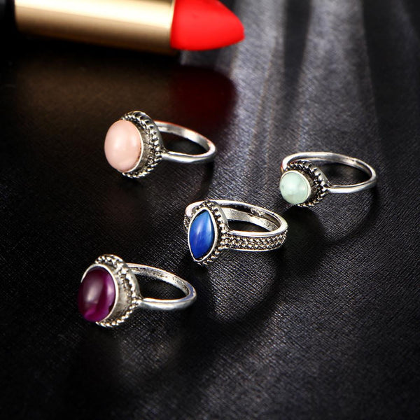 Gypsy Summer Stone Rings Set