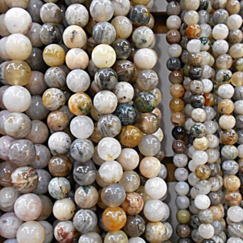 Round Natural Stone Beads from India - 4 mm, 6 mm, 8 mm, 10 mm, 12 mm