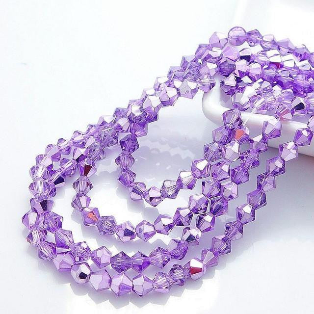 Crystal Glass Spacer Beads