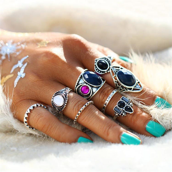 Gypsy Goddess Festival Statement Ring Set