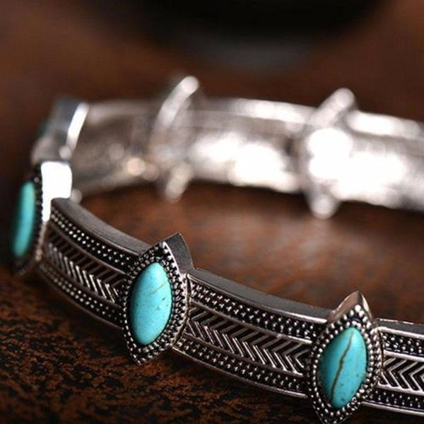 Chic Eye Shaped Boho Statement Choker Necklace