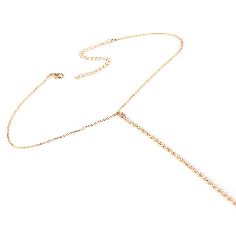 Simply Chic Rhinestone Necklace Style Body Chain