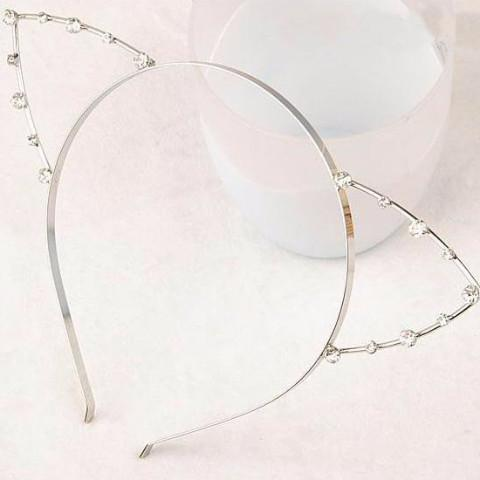 Jeweled Cat Ears Headband Accessory