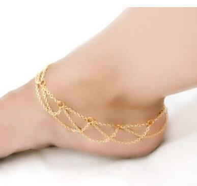 Waves Gold Anklet Chain