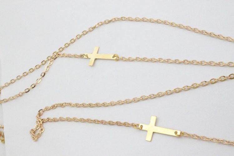 Double Cross Double Chain Waist Jewelry Piece