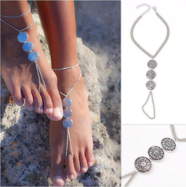 Gypsy Coin Barefoot Sandals - Comes in pack of 2 (1 pair)