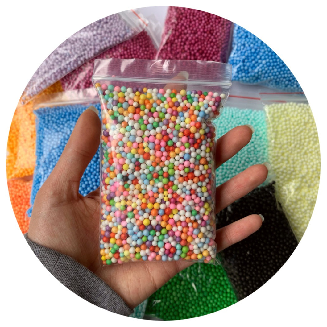 small floam beads bag