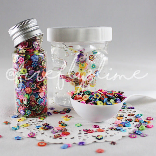 Floral Fimo Slices