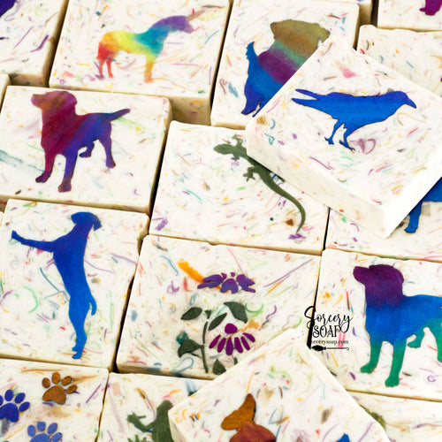 Colors Stenciled Soap