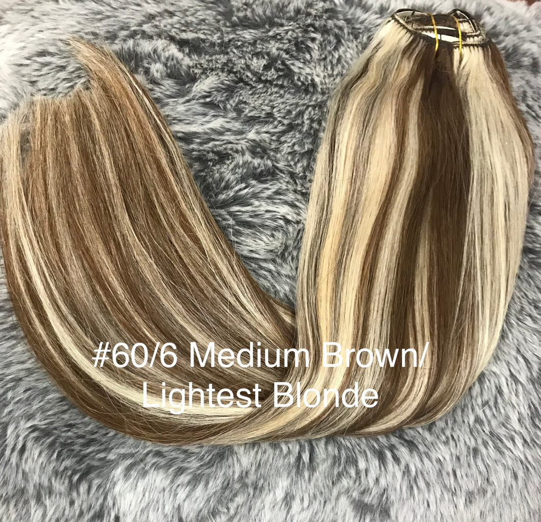 Clip In Remy Foiled Colour Range