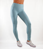 Fitted Dual Pocket Leggings - Light Blue