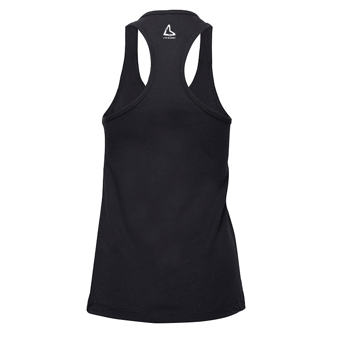BE THE LIGHT RACERBACK TANK - BLACK