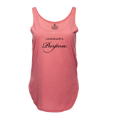 CREATED WITH A PURPOSE TRIBLEND RACEBACK TANK - PINK