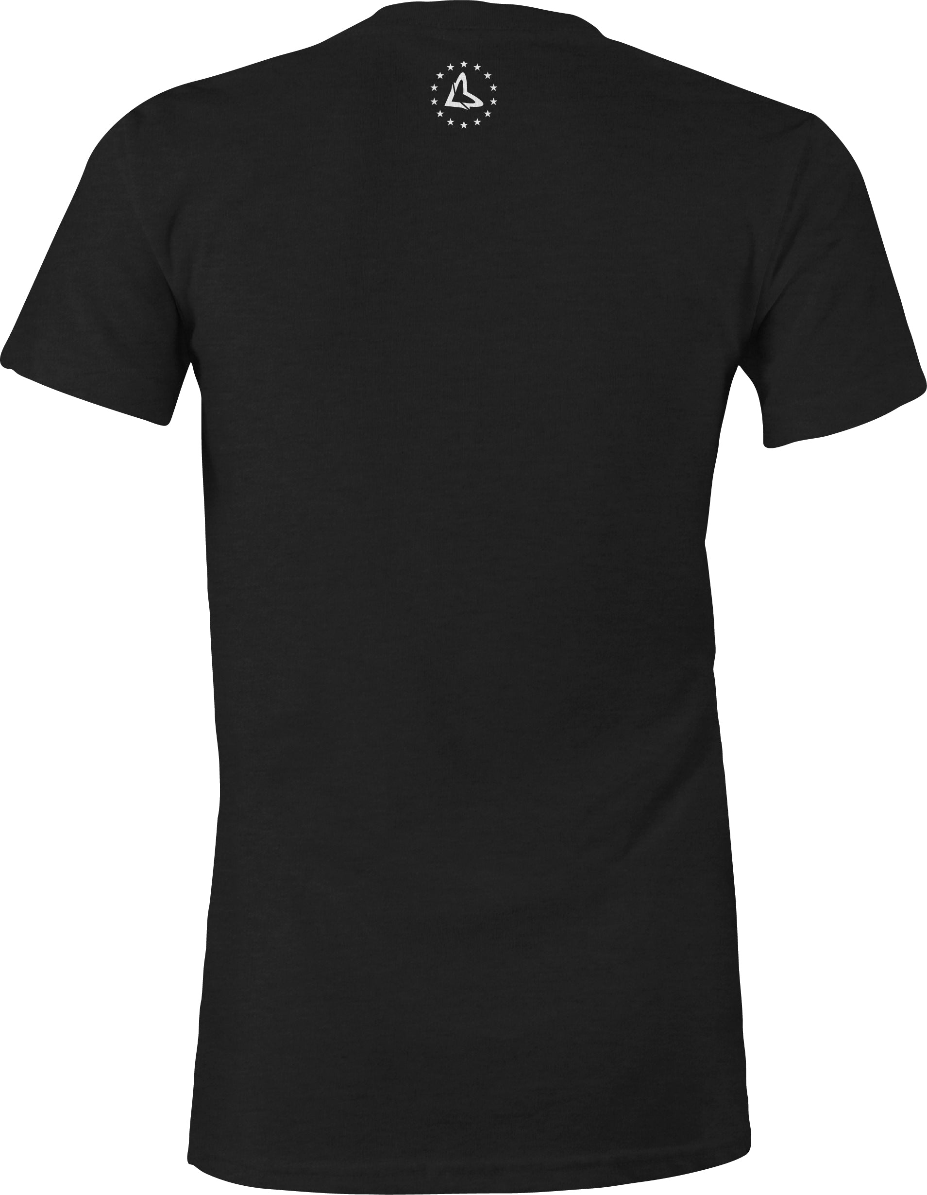 WOMEN'S STAR CIRCLE - BLACK TEE