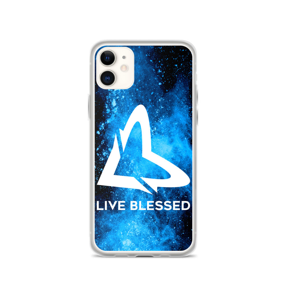 Blue Burst iPhone Case