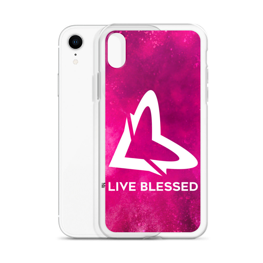 Pink Burst iPhone Case