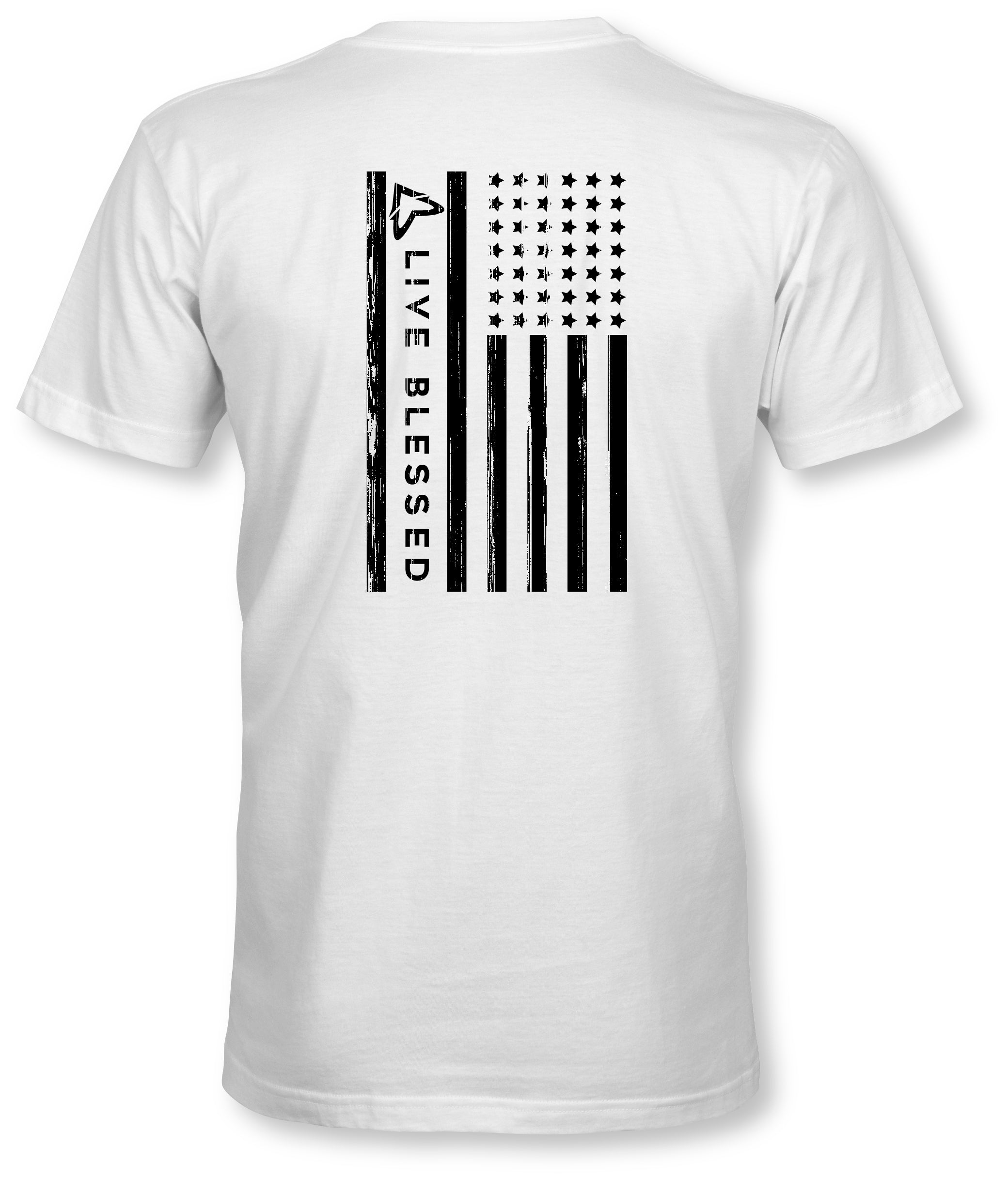 MEN'S LVBLSD FLAG - WHITE TEE
