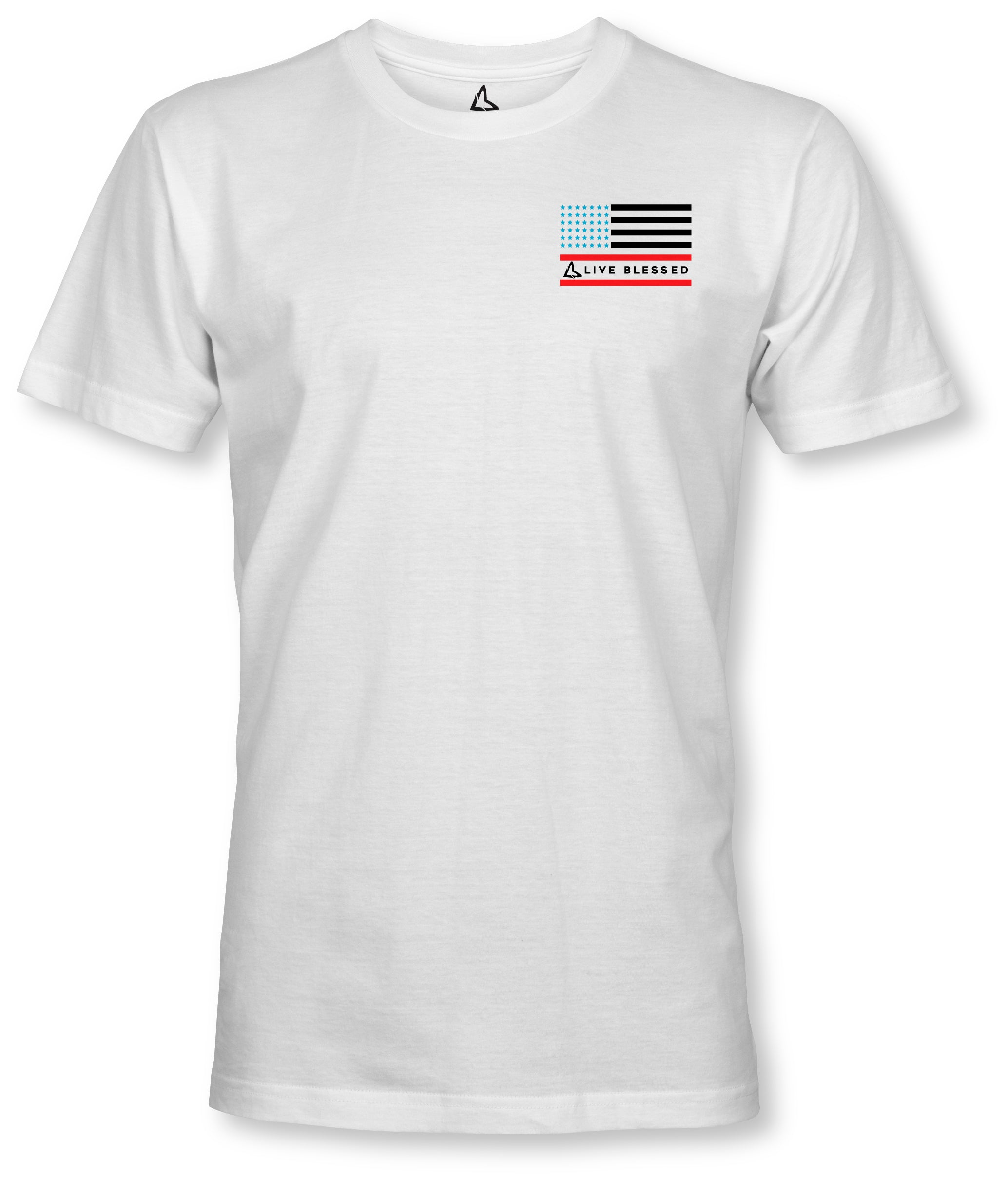 MEN'S LVBLSD STARS & STRIPES - WHITE TEE