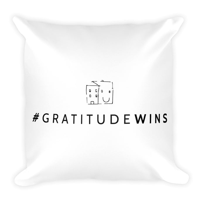 #GratitudeWins Square Pillow